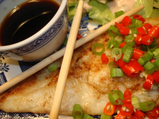 Pan Fried Cod with Asian Dressing