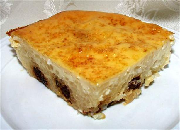 Baked Rice Custard