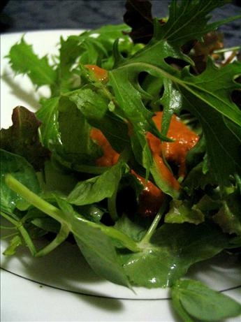 Mixed Greens with Tomato-Ginger Dressing