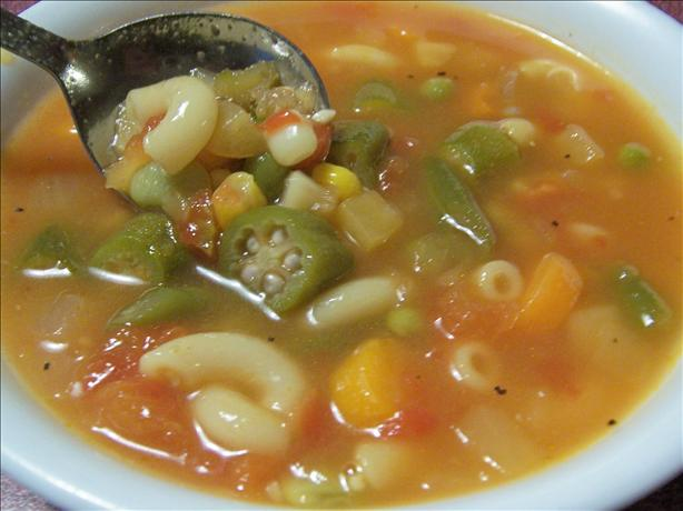 Veggie Mac Soup