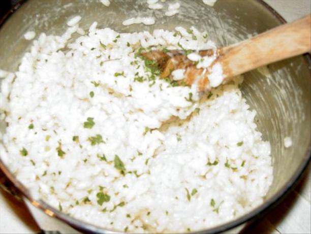 Risotto with Garlic and Parmesan