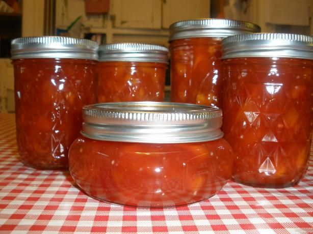 Peach Conserve with Rum