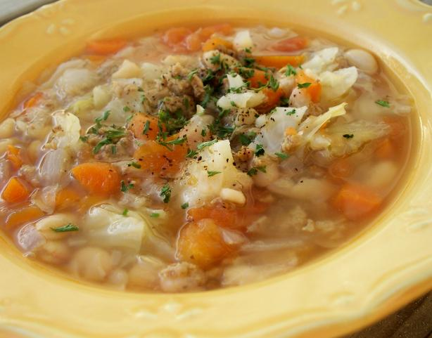 Cannellini and Cabbage Soup