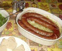 Kielbasa, Onion and Potato Scallop