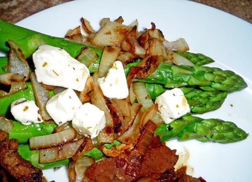 Feta-asparagus