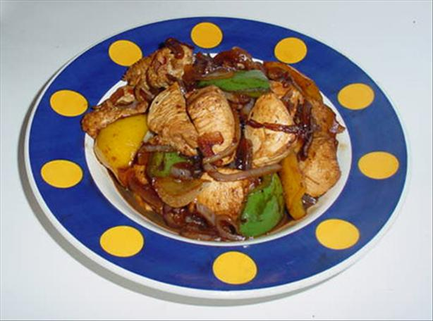 Chinese Chicken with Sweet Onions