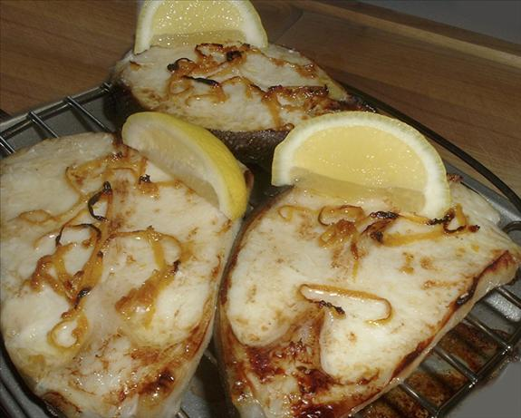 Worcestershire Broiled Halibut Steaks