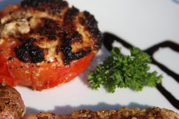 Grilled Garlic Tomatoes