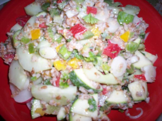 Vegetable-Bulgur Salad with Buttermilk Dressing