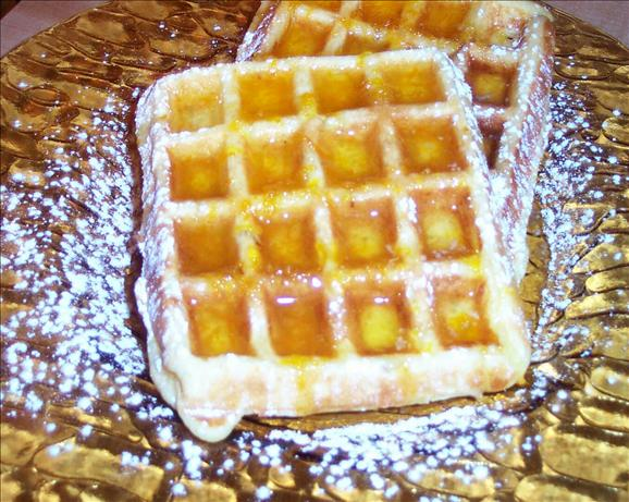 Orange Nut Waffles with Orange Syrup