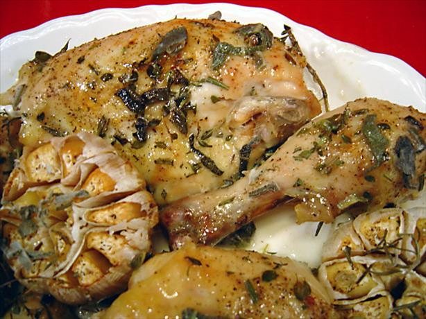 Herb Roasted Chicken with Garlic