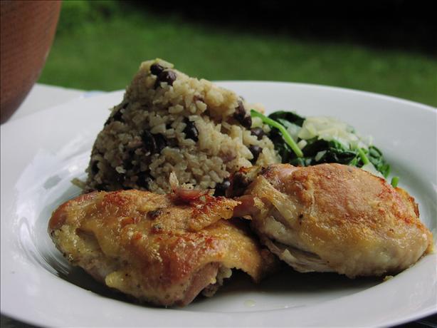 Oven Fried Garlic Rosemary Chicken