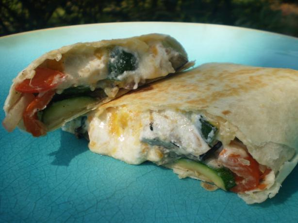 Almost Like Pollo Pronto's Roasted Veggie Wrap