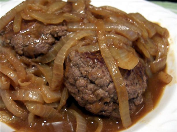 Smothered Ground Sirloin Steak with Adobo Gravy