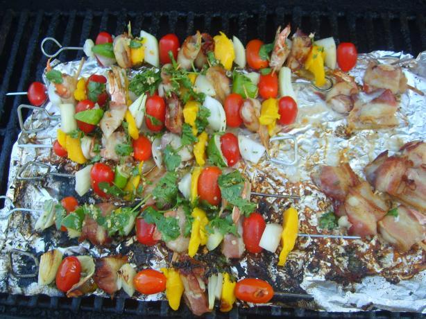 Shrimp and Mango Skewers