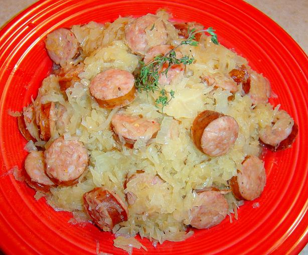 Sausage and Sauerkraut Pot
