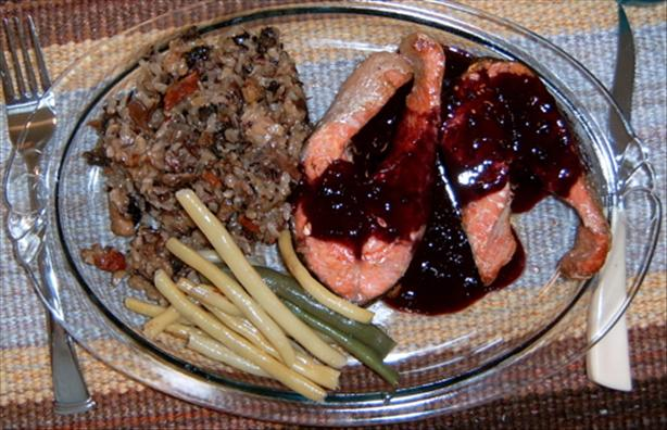 Salmon with Blackberry Butter