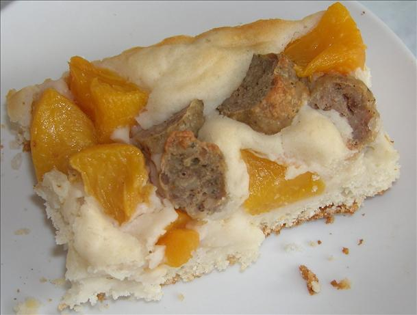 Sausage and Peach Breakfast Casserole