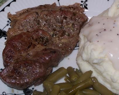Pork Blade Steak with Garlic/Herb
