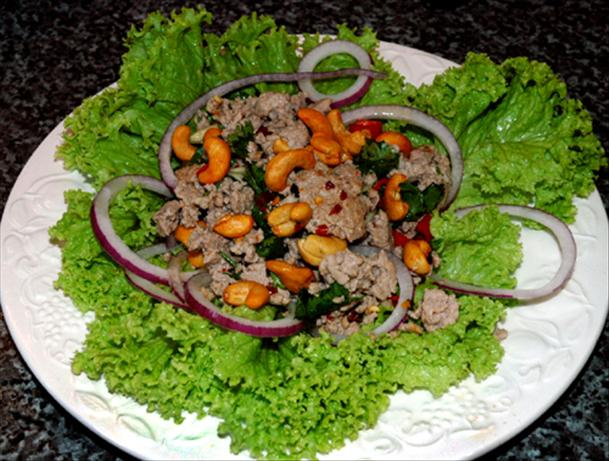 Nam Sod (Pork Salad with Mint, Peanuts and Ginger)