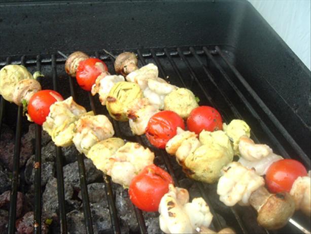 BBQ Tiger Prawn Kebabs