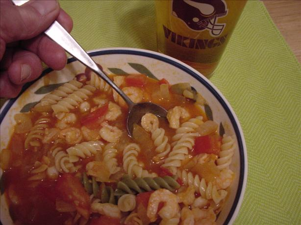 Barbecue Shrimp and Pasta