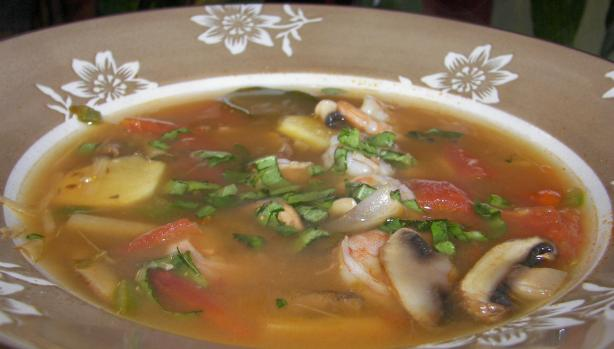 Simple Thai-style Lemongrass Shrimp Soup