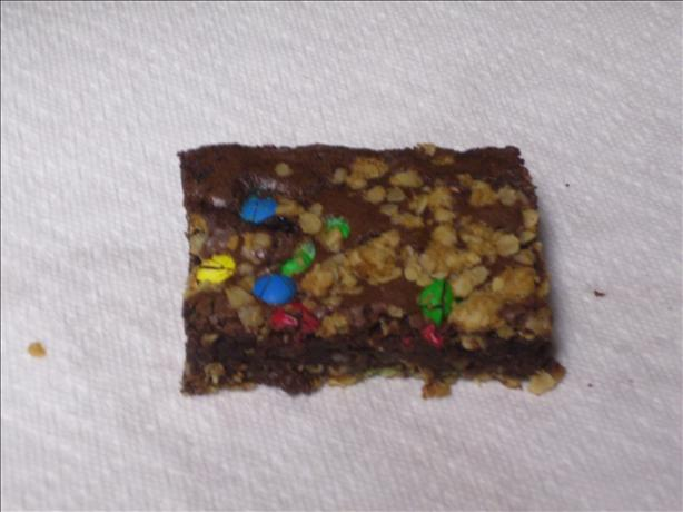 M & M Oatmeal Brownies