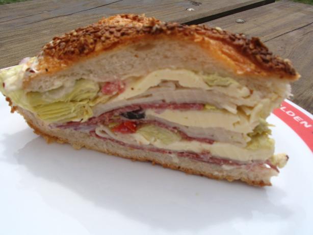 Mom's Sit Sandwich (Aka Squishy Sorta Muffuletta)