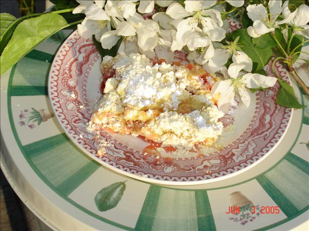 Dump-It-In Rhubarb Cake
