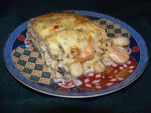 Creamy Scallop Lasagna