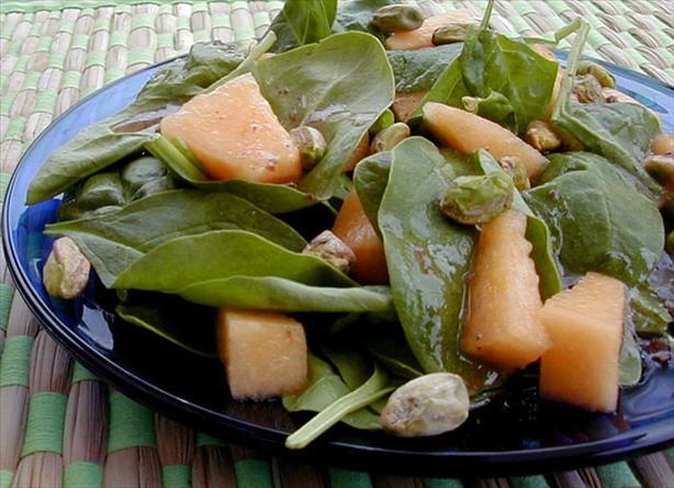 Cantaloupe Spinach Salad