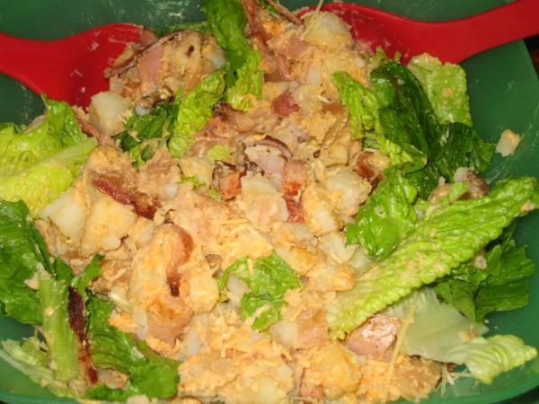Warm Caesar Potato Salad
