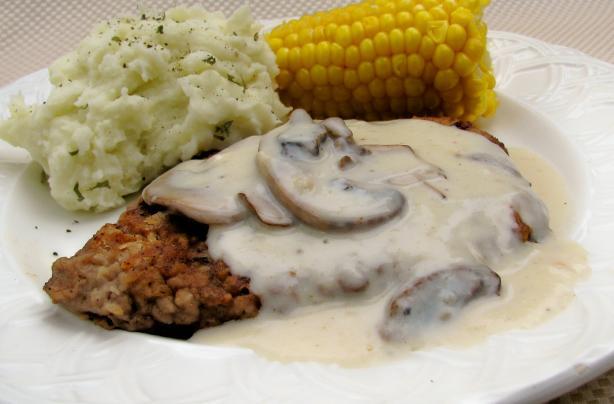 Chicken Fried Steak With Mushroom Gravy