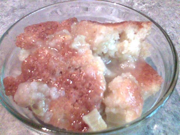 Lemony Rhubarb Pudding
