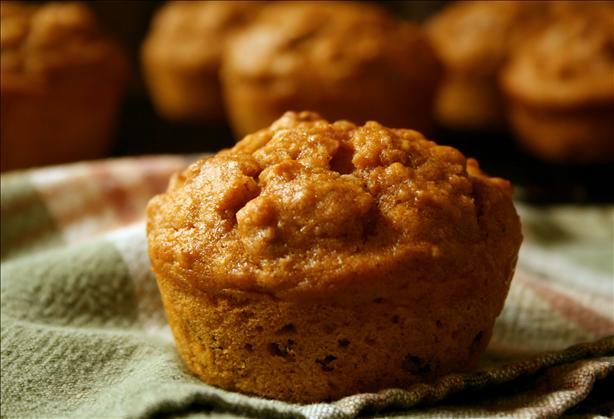 Moist Oatmeal Pumpkin Muffins