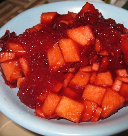 Cran-Raspberry Waldorf Salad