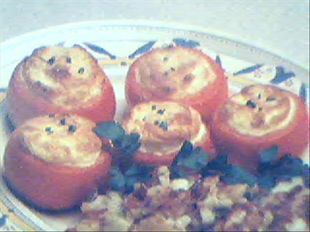 Cheese Souffle in Tomatoes