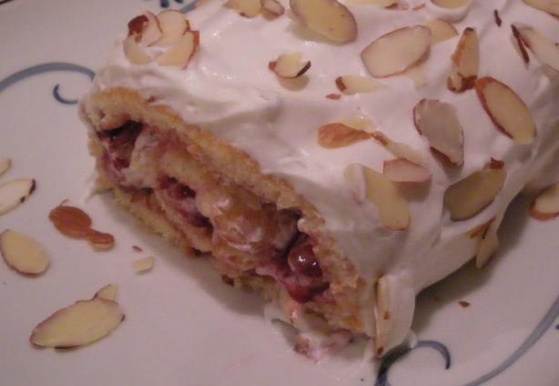 Almond Raspberry Cream Roll