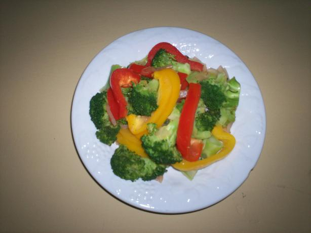 Broccoli and Sweet Peppers