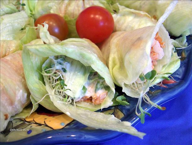 Seafood Lettuce Rolls
