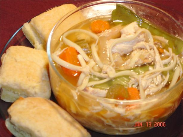 Chicken Linguine Soup - Crock Pot