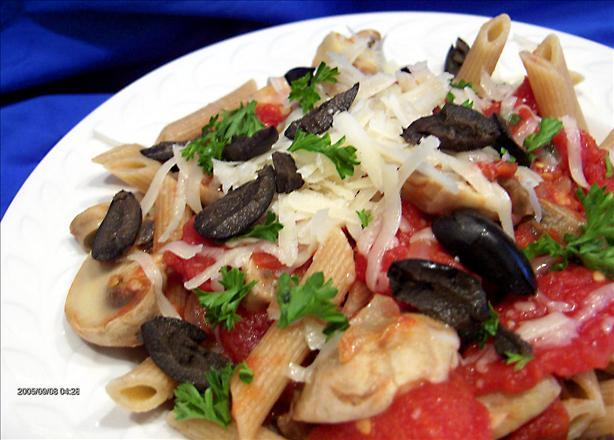 Mushroom Pasta for 2