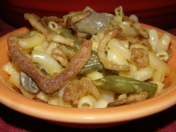 Cheesy Shells and Green Beans