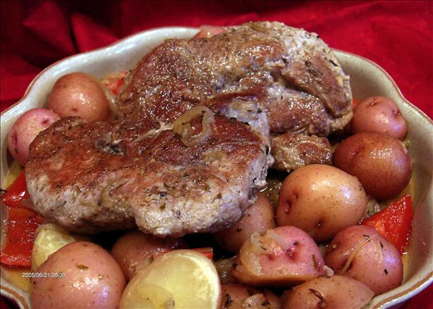Pork Chops & Potatoes