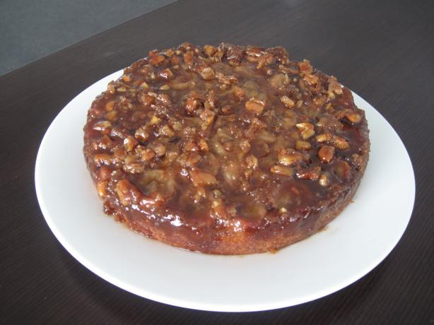 Walnut-Banana Upside-Down Cake