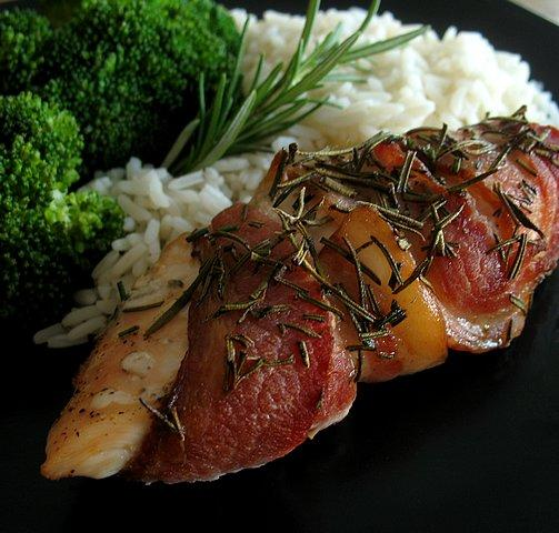 Bacon-Wrapped Rosemary Chicken