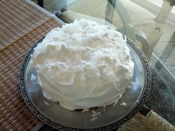Double Coconut Cake With Fluffy Coconut Frosting
