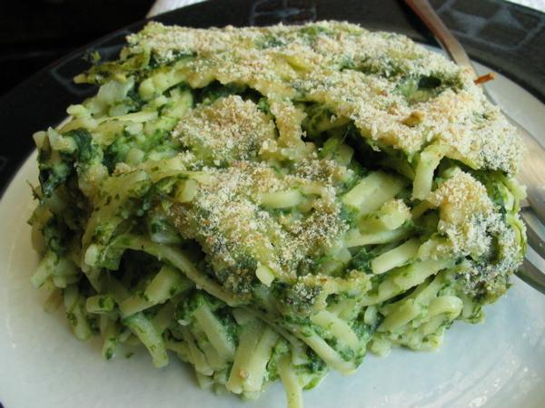 Spinach Noodle Pudding