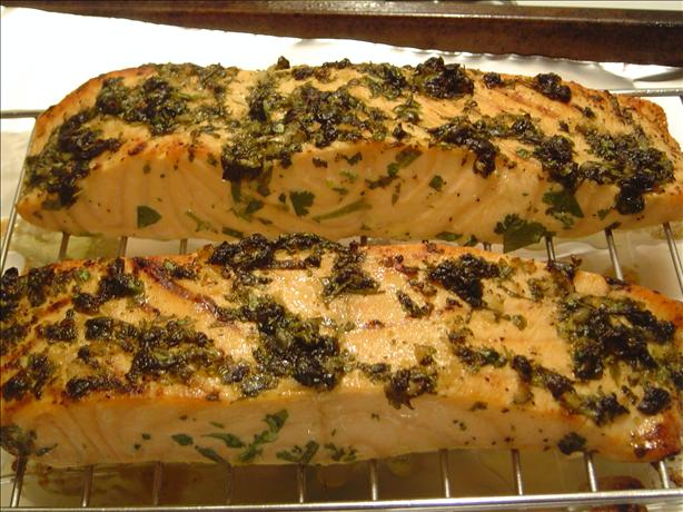 Broiled Salmon With Cilantro and Lime